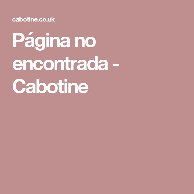 Página no encontrada - Cabotine