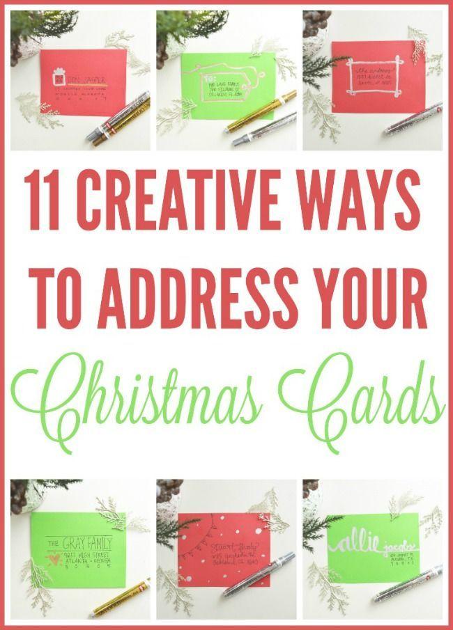 11 Creative Ways To Address Christmas Cards on ablissfulnest.com