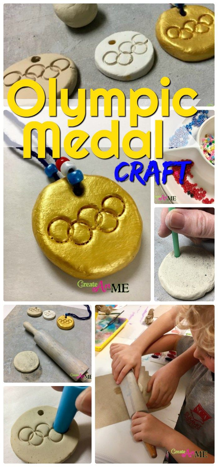 Olympic Medal clay necklace