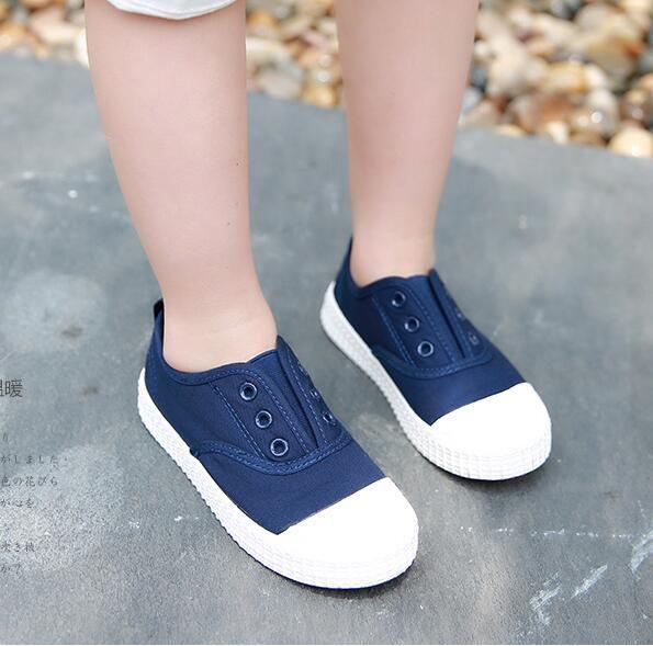 Enfants Toile Chaussures Chaussures enfants pour fille Blanc Garçons Baskets 2017 Printemps Automne