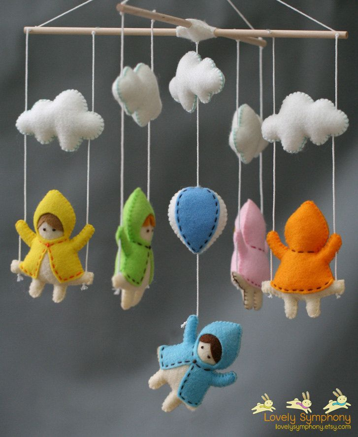 Girls and swings in the sky baby mobile - girls and swings - baby mobile. $80.00, via Etsy.