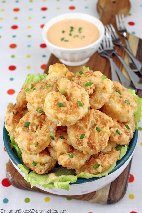 A copycat restaurant recipe for spicy, crunchy Bang Bang Shrimp. They make great appetizers, party or game day snacks!
