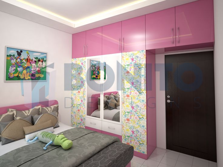This is the exact design that our designer rendered for a kid's bedroom for one of our old clients. Now this is the happy space of a little girl. #kidsbedroom