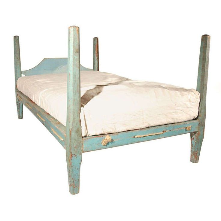 Antique Pencil Post Rice Bed Gray White And Copper Bedroom: 17 Best Rope Beds Images On Pinterest