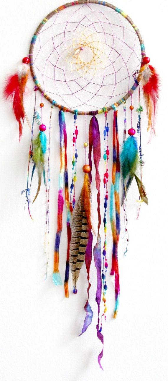Woodland Wanderlust Native Woven Dreamcatcher. $55.00, via Etsy.