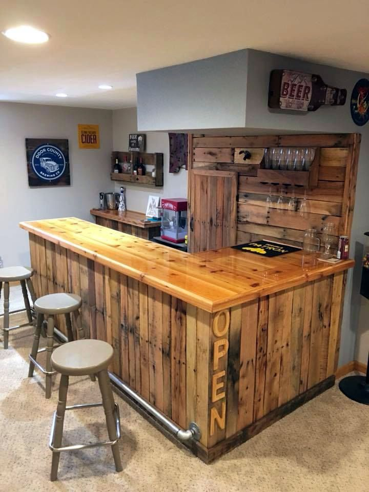 So Cool Best Home Bar Furniture That Will Blow Your Mind Diy Home Bar Basement Bar Designs Rustic Basement Bar