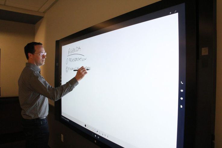 Brian Albrecht, a group program manager for Surface Hub at Microsoft, writes on the company's new, 84-inch workstation.