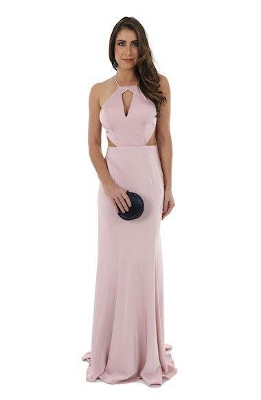 07eac4f8d Vestido de Festa Rose em Crepe Acetinado | móda em 2019 | Formal ...