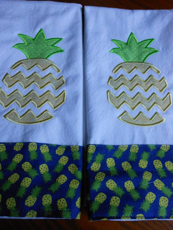 Pineapple Kitchen Towels Set/Hospitality gift
