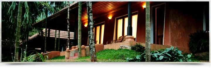 Vythiri Spa Ayurveda Resort, Wayanad  -  designed in the traditional Kerala architectural style
