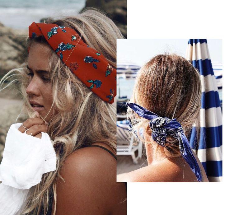 De bandana, hoofdband, het kleine stropdassjaaltje, ze zijn allemaal multifunctioneel. Je knoopt ze om je pols, enkel, in je haar …