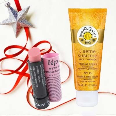 Apivita lip care + Roger Gallet sublime hand cream