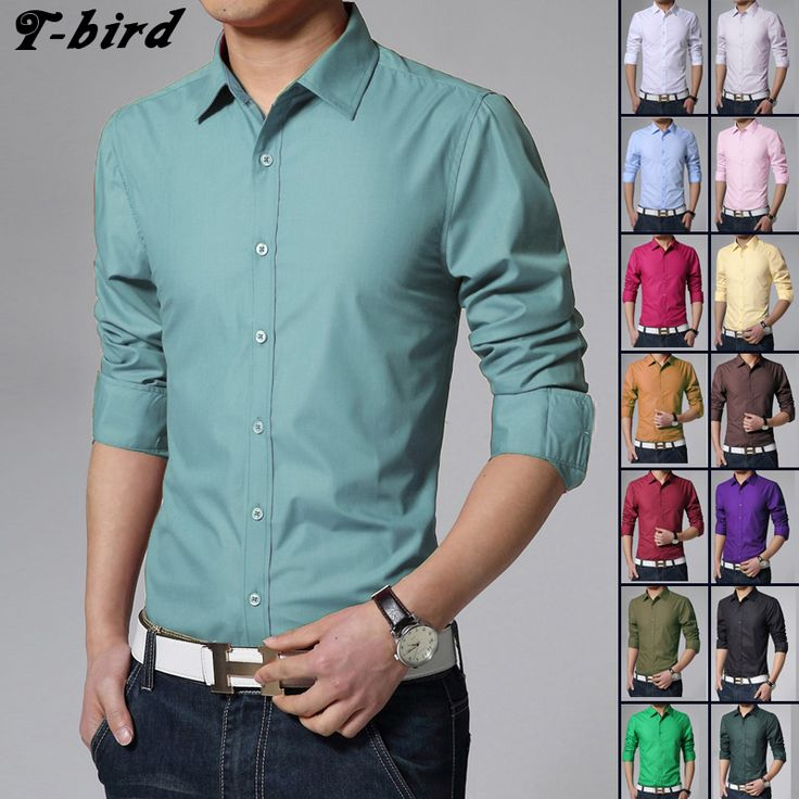 T Bird Shirt Men 2017 Dress Solid Color Long Sleeve Shirt Slim Fit Camisa Masculina Men's Shirts Casual Business Male Shirts 3XL     Tag a friend who would love this!     FREE Shipping Worldwide     Get it here ---> https://hotshopdirect.com/t-bird-shirt-men-2017-dress-solid-color-long-sleeve-shirt-slim-fit-camisa-masculina-mens-shirts-casual-business-male-shirts-3xl/