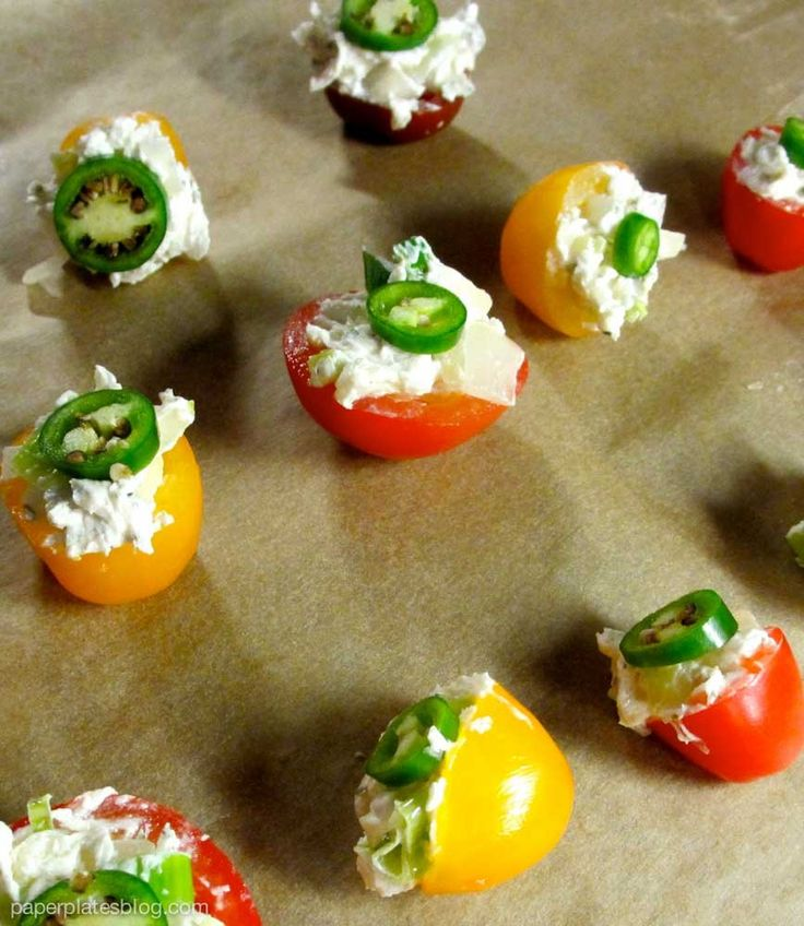 """Naughty"" hot tomatoes. Also known as the best spicy vegetarian appetizer you can make in under half an hour."