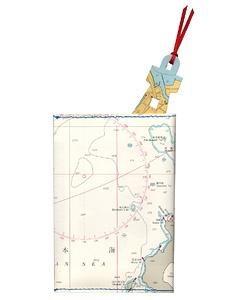 海図ブックカバー