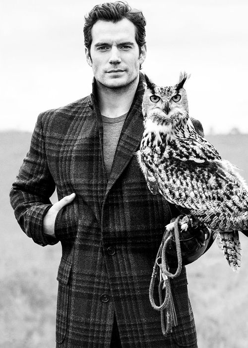 My man holding an owl..litterally two of my favorite things. Henry Cavill photographed by Ben Watts for Men's Fitness magazine
