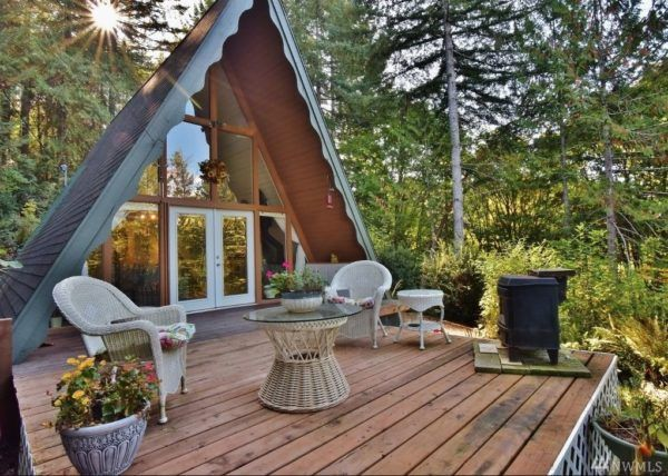 700 Sq  Ft  A-frame Cabin in Belfair, WA (For Sale!) | tiny
