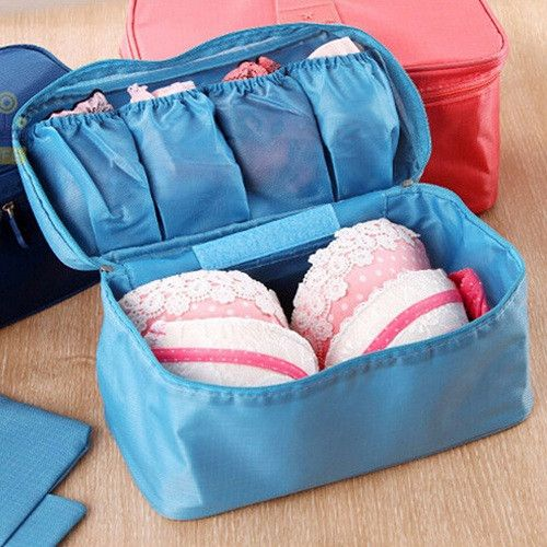 Charming Travel Organizer Bra Underwear Pouch Cosmetic Bag Portable Luggage Storage  6 Colors Free Shipping