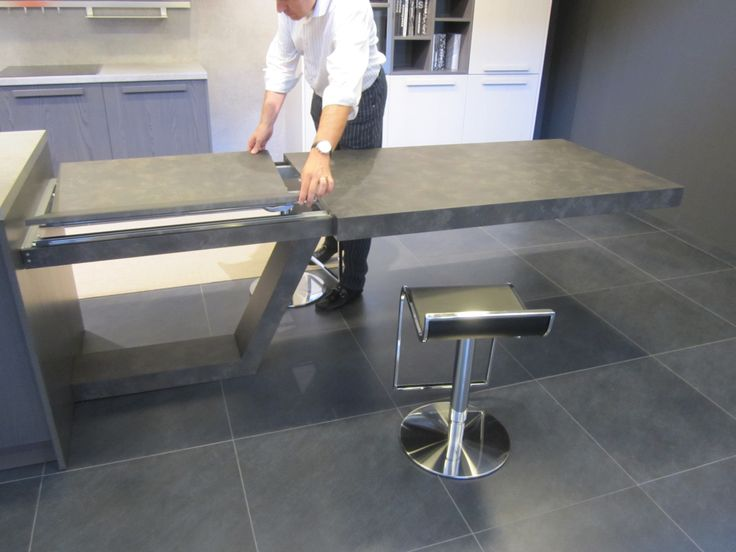 Gama de cocinas econ micas blunni mesa extensible bpara banco de cocina o isla cocinas - Mesa extraible cocina ...