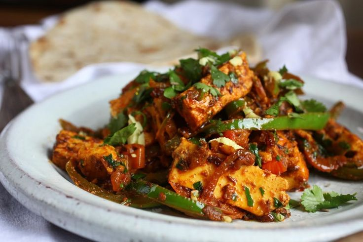 Easy Paneer Jalfrezi with spices, chilli and peppers