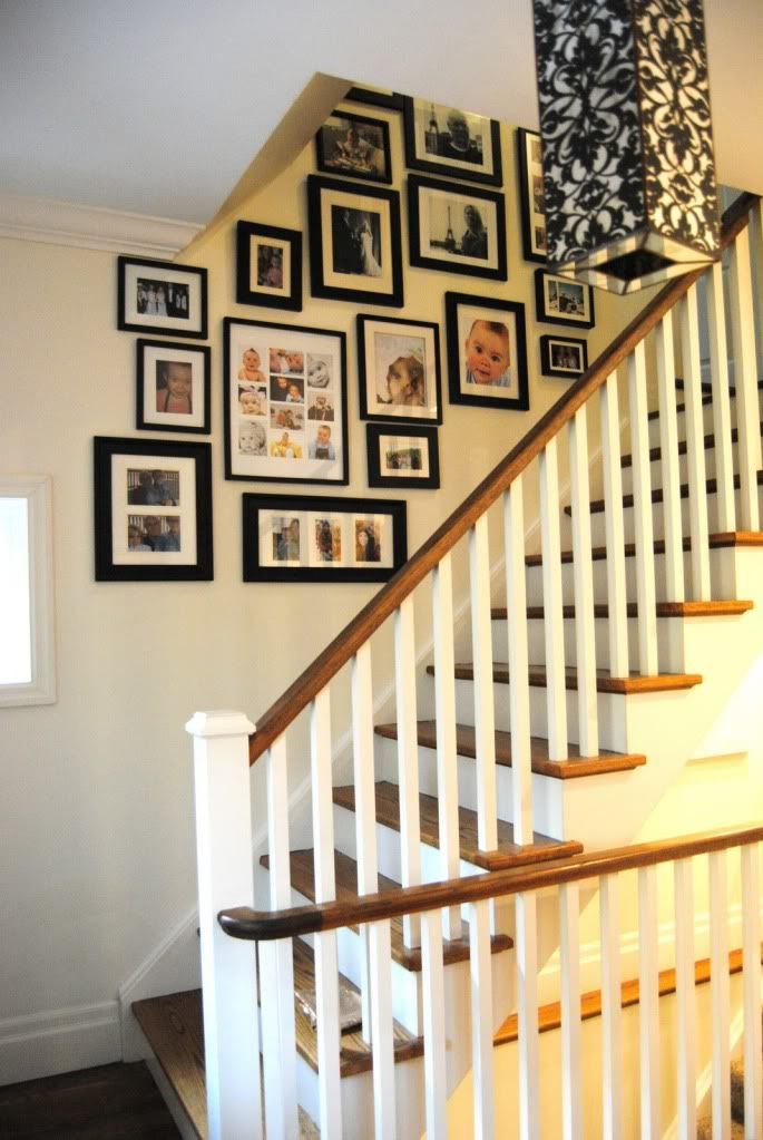 photo stairway gallery - Love it! Grew up with a large family, and you could feel the love just going up the stairs!
