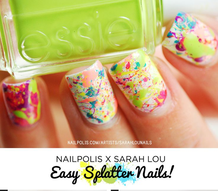 Have you ever wondered how on earth splatter nails are done? Well here's your chance! Through this easy to follow picture tutorial, the lovely Sarah from Sarah Lou Nails show us just how it's done!