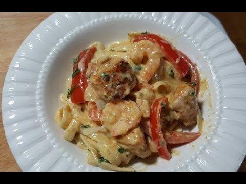TGI Friday's Cajun Chicken And Shrimp Pasta - YouTube