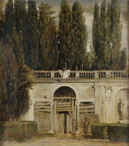 ディエゴ・ベラスケス《ローマ、ヴィラ・メディチの庭園》