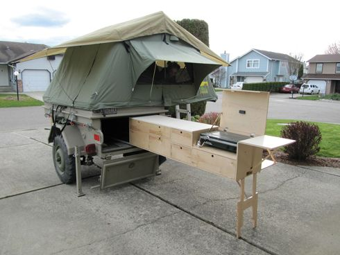 M101 Trailer modified for camping