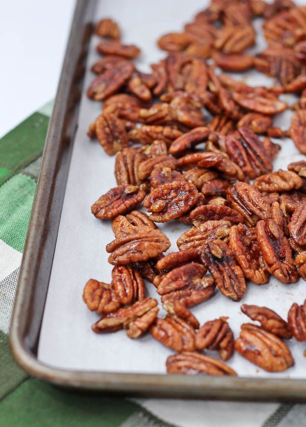 Some of the best spiced pecans you'll ever taste! This spiced pecan recipe is a keeper.
