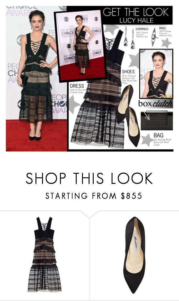 """Get the look- Lucy Hale"" by stylect ❤ liked on Polyvore featuring Brian Atwood and Lee Savage"