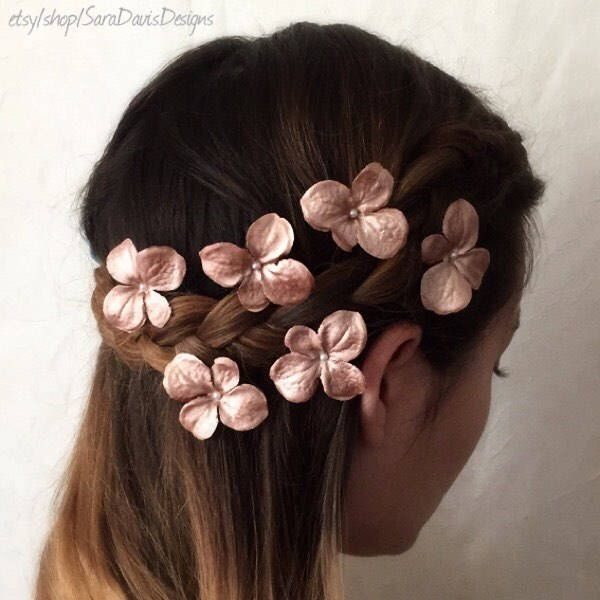 A personal favorite from my Etsy shop https://www.etsy.com/listing/235592211/rose-gold-flower-hair-pins-rose-gold