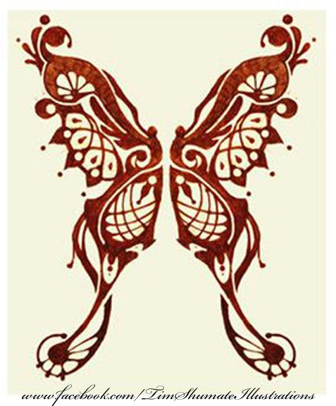 Beautiful henna-style butterfly.