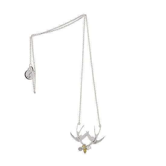 Image of SWALLOW CLUSTER CHAIN SILVER