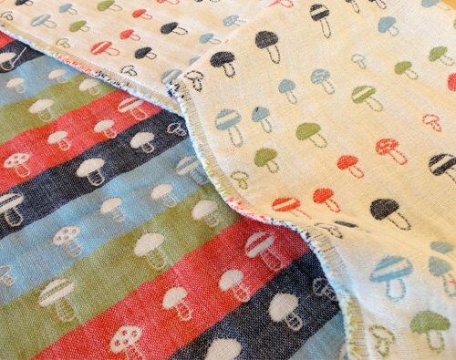 Mushrooms blanket, gauze blanket, multicolor blanket, baby blanket, muslin blanket, stroller blanket for baby boy baby girl by AYU123 on Etsy https://www.etsy.com/listing/218843927/mushrooms-blanket-gauze-blanket