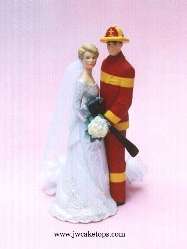 fire truck wedding cake toppers our day firefighter gear wedding cake topper 14279