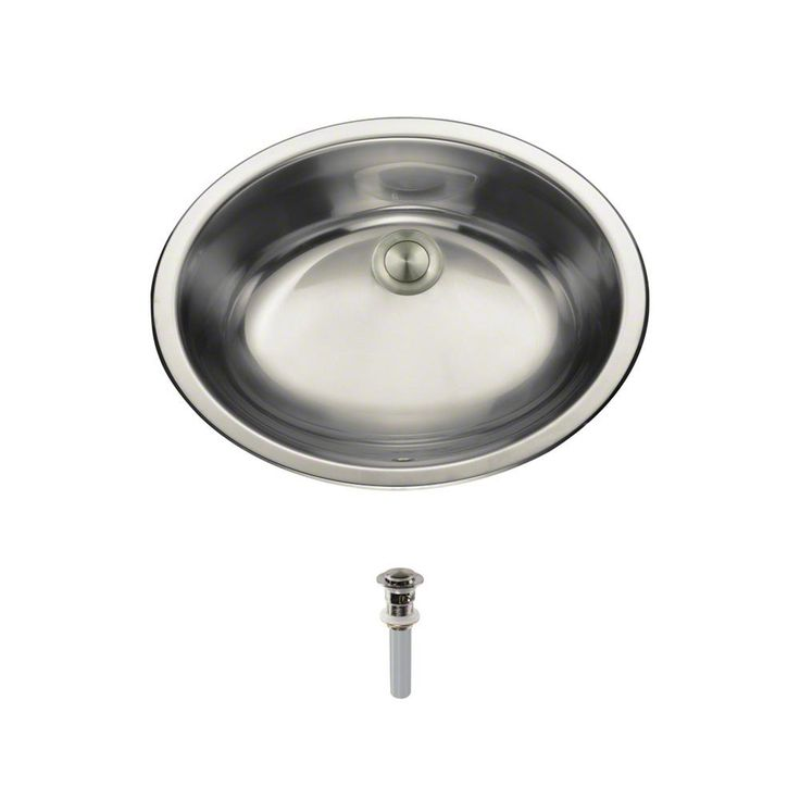 MR Direct Dual-Mount Bathroom Sink in Stainless Steel (Silver) with Pop-Up Drain in Brushed Nickel