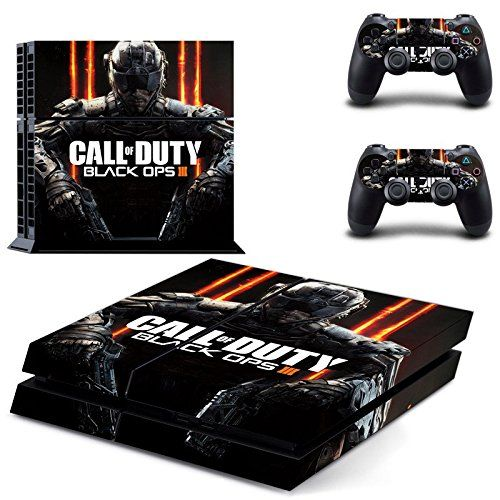 Ambur PS4 Console Designer Skin for Sony PlayStation 4 System plus Two2 Decals for PS4 Dualshock Controller  Call of Duty Black Ops 3 * Find out more about the great product at the image link.Note:It is affiliate link to Amazon. #followback