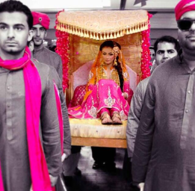 An open doli (bridal palanquin) is essential for every desi bride.