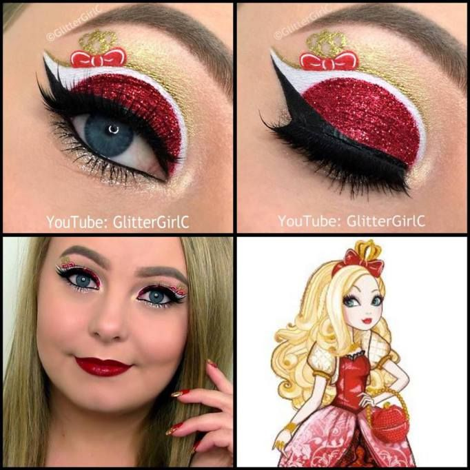 Ever After High Apple White Makeup look   Halloween ...