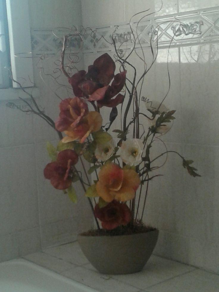 Flores en la ducha.