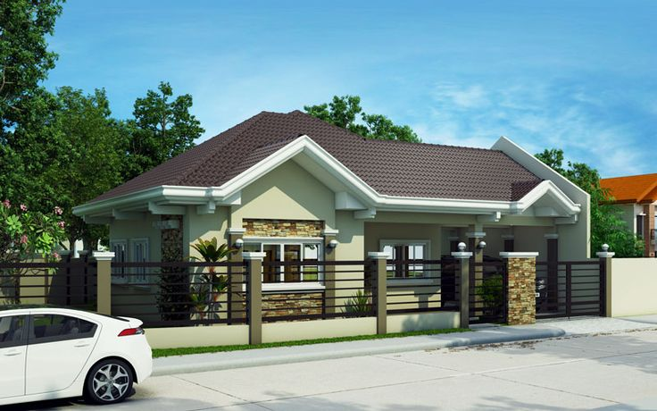 Pinoy house plans series 2015014 is a 4 bedroom bungalow for Simple bungalow house design with terrace