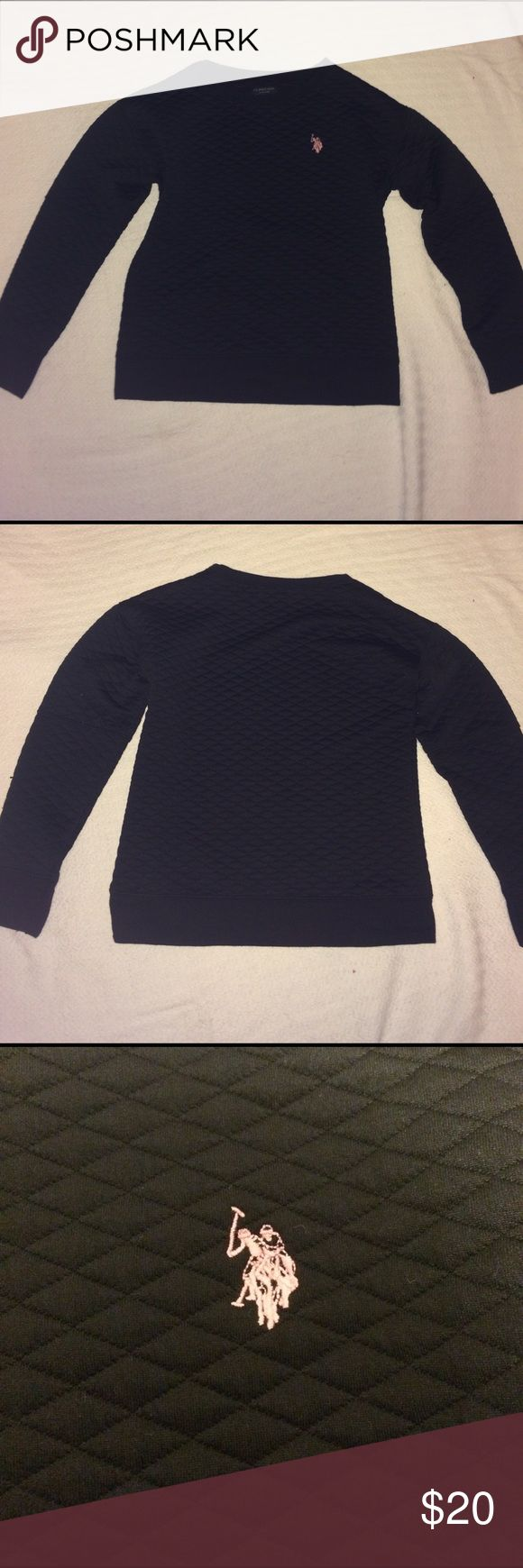 Long-sleeve Polo shirt. This is a black Polo shirt that will keep you warm in the winter.                                     *NEVER WORN* U.S. Polo Assn. Shirts & Tops Sweaters