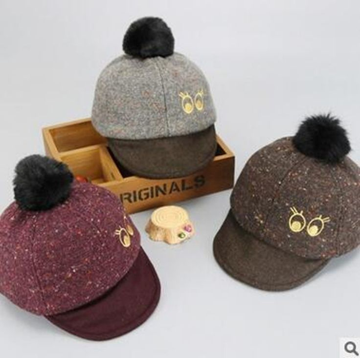 YiWu Spring Autumn The Newest Cute Cartoon Eye Design Baby Caps Baseball Caps Children Winter Hats Kids Peaked Caps  #Affiliate