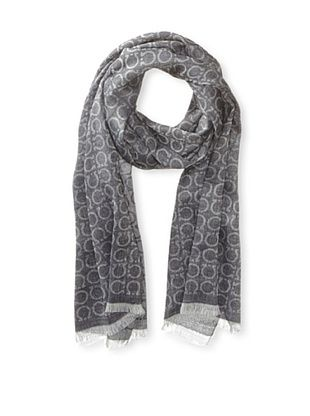 33% OFF Salvatore Ferragamo Men's Logo Scarf (Gray)