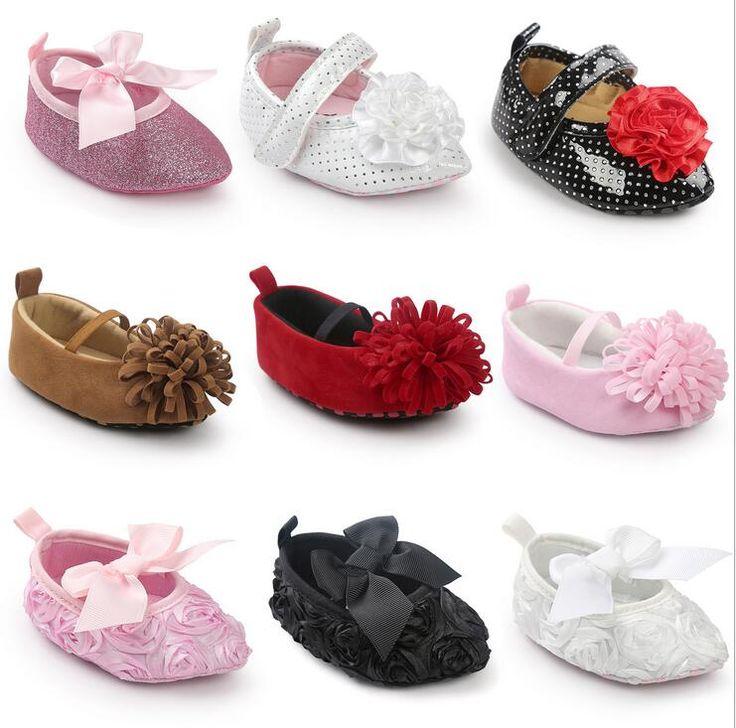 Новые Симпатичные Принцесса Девушки Большой Цветок Пу замши Сладкий Новорожденного ребенок Мэри Джейн Первые Ботинки Ходока Детские Малыш Мягкой Подошве Обувь #hats, #watches, #belts, #fashion, #style