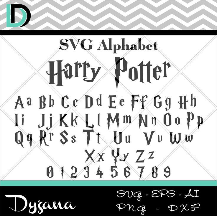 harry potter alphabet,harry potter svg,alphabet svg,alphabet letters,cricut svg,fonts,files for cricut,digital fonts,font svg,svg files,font by Dyzana on Etsy https://www.etsy.com/listing/512524334/harry-potter-alphabetharry-potter