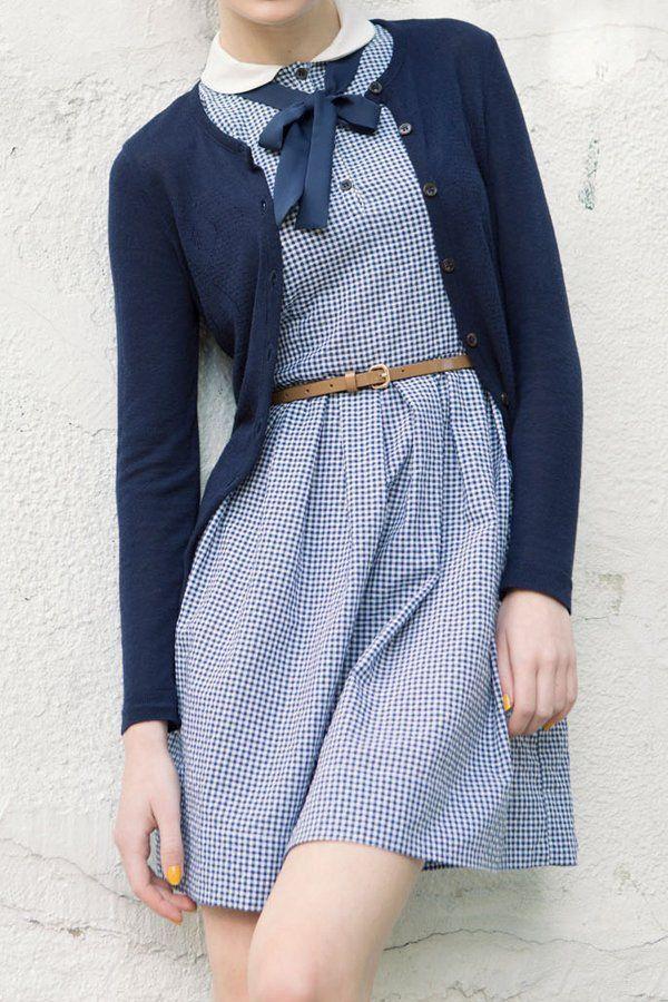 Blue casual dress. Casual fashion ideas 2016.