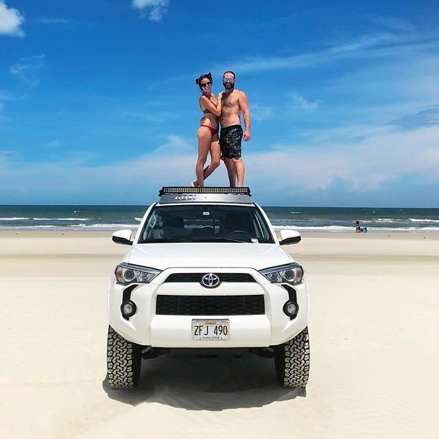 Proudly sporting Hawaii plates in Florida.  Weve been adjusting to our life here in sunny FL but were finding more and more gems and loving all the adventures. New Smyrna Beach; you are our new paradise!     #florida #hawaii #new #adventure #explore #theoutdoors #love #couple #beach #newsmyrnabeach #sharkbite #4runner #trdpro #toyota #toyota4runner #offroad #travel #instapassport #instatravel #photography