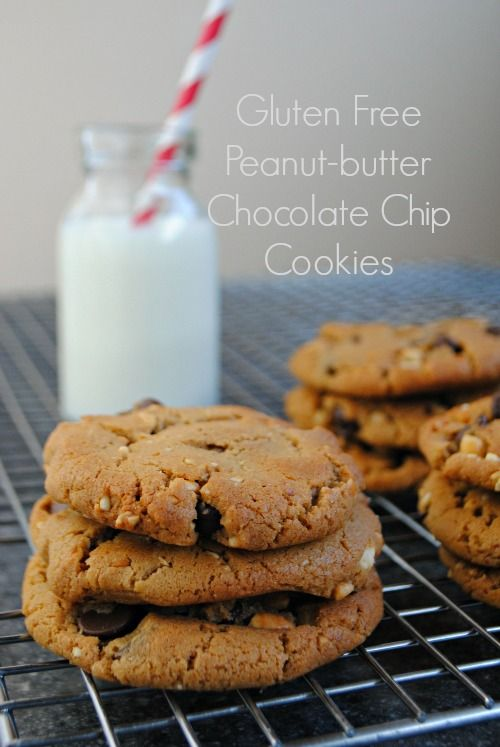 Gluten free peanut-butter chocolate chip cookies